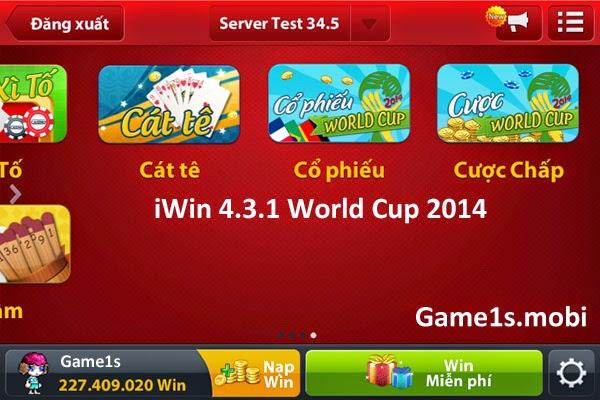 Tải iWin 431 - iWin 4.3.1 sôi động World Cup