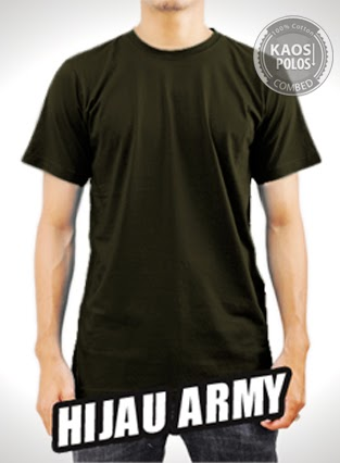 Kaos Polos Hijau Army