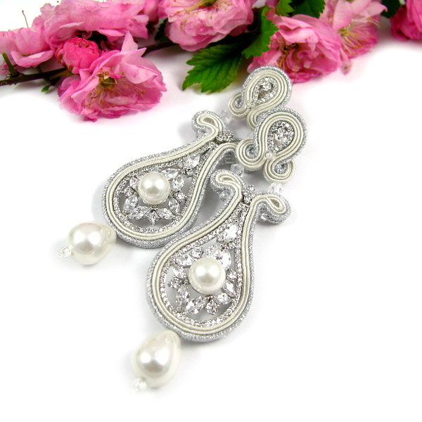 Sutasz ślubny ivory z kryształami Novia Blanca
