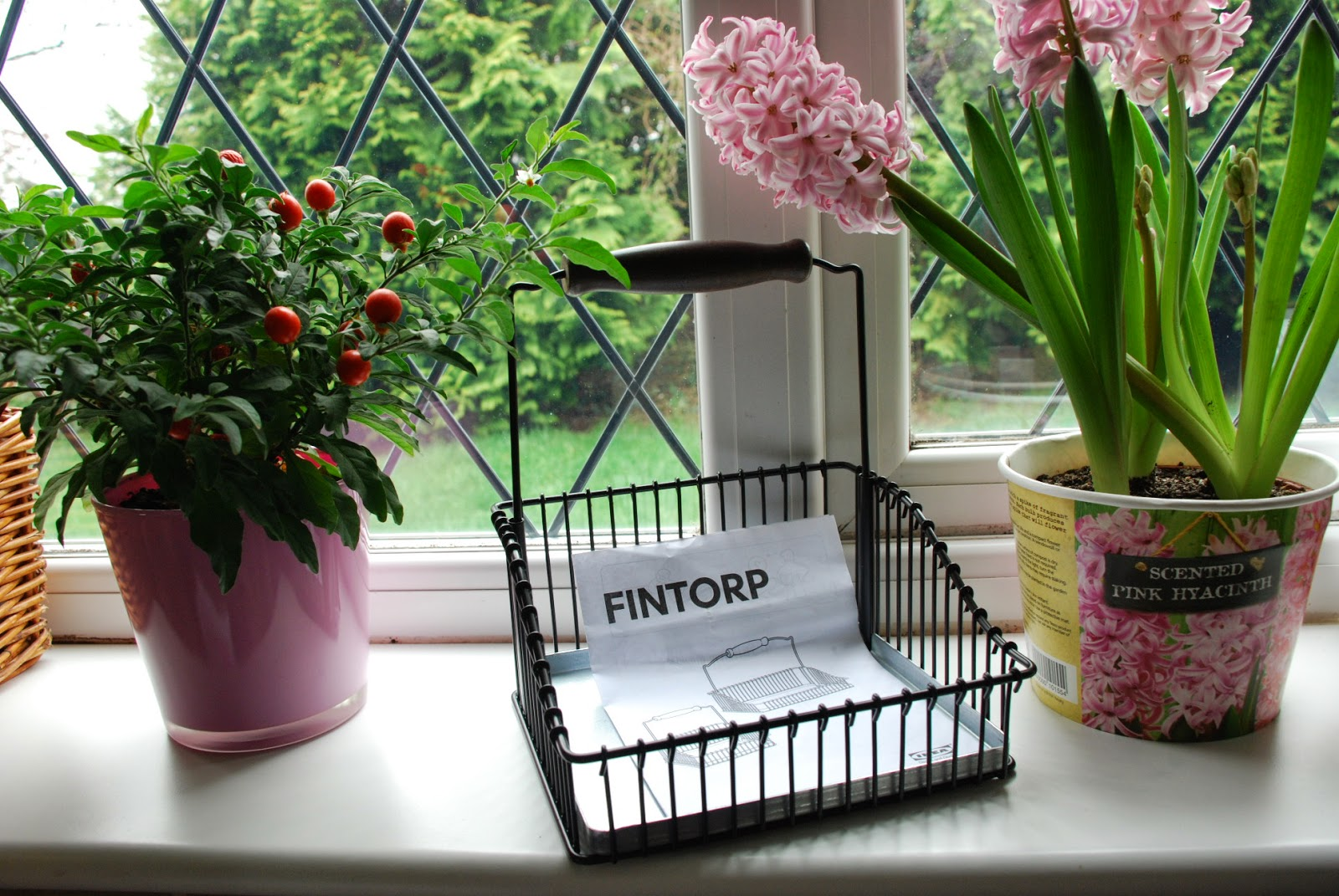 image of Ikea metal storage basket