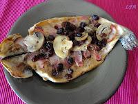 Trucha con bacon y champiñones al horno