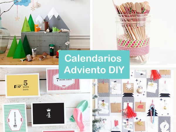 Calendario de Adviento DIY. Ideas para hacer calendarios de Adviento caseros