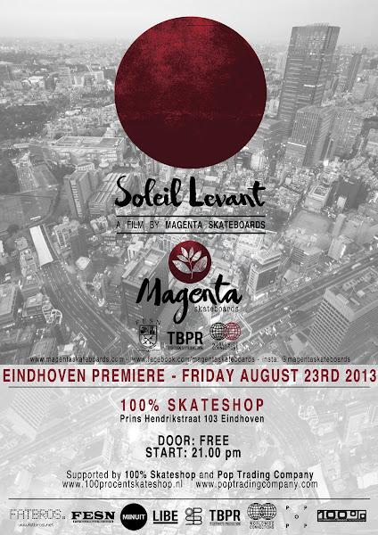 Premiere Maganta 'Soleil Levant' video in 100% skateboardshop