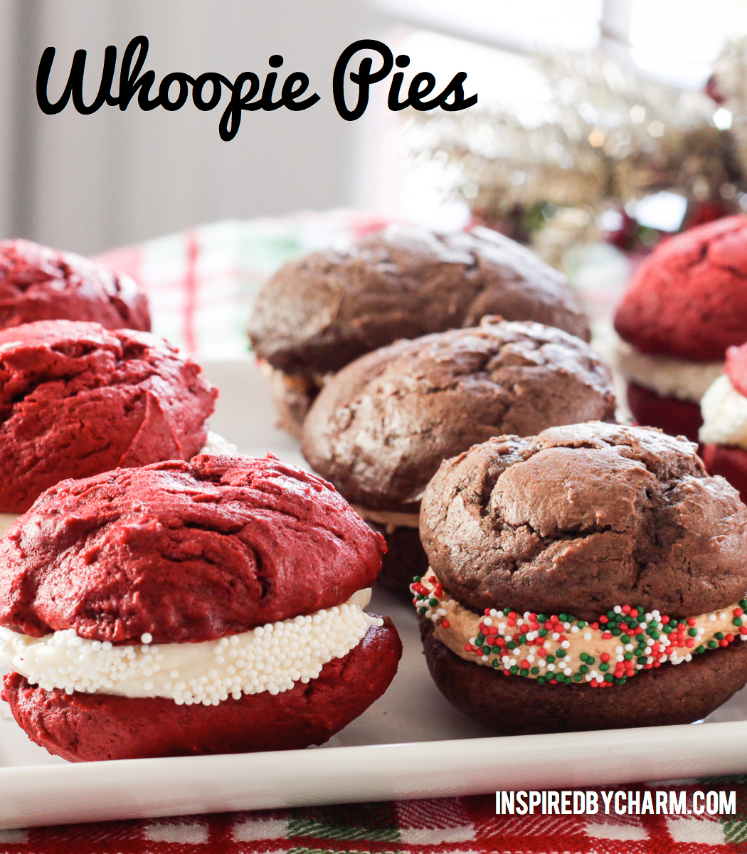 Red Velvet Whoopie Pies // Giada Giveaway - Inspired by Charm