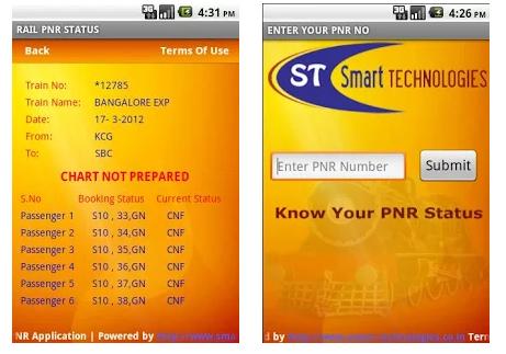 RAIL PNR Status App Apk