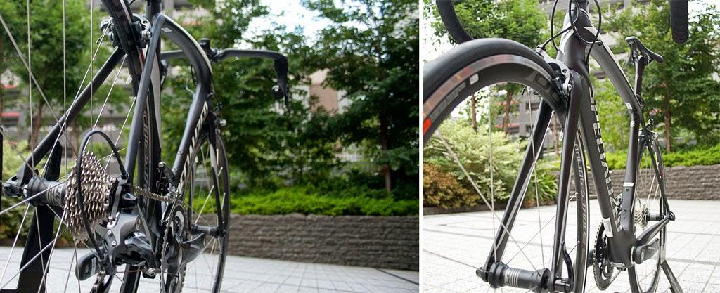 ロードバイクのエアロ性能を引き上げるシートステー、フロントフォークのデザイン