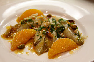 Braised endives with orange and pistachios :: Plate and Pour
