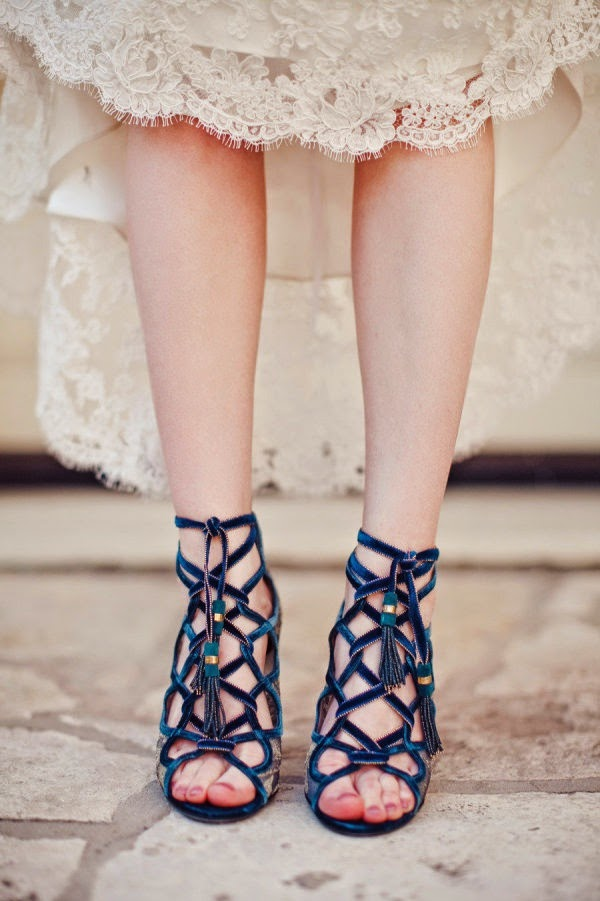 navy blue velvet wedding shoes strappy sandals