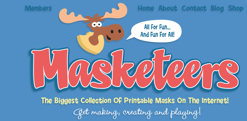 Masketeers Printable Masks