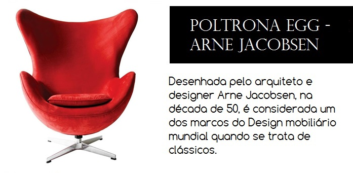 Cadeira de design desenhada pelo arquiteto e designer Arne Jacobsen