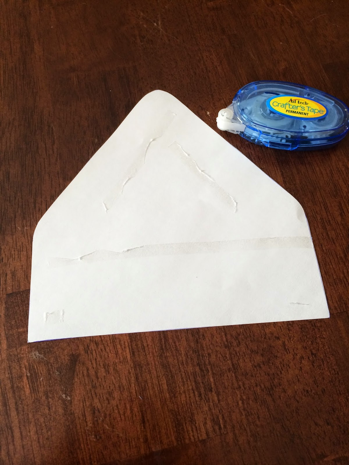 Doeblerghini Bunch:  Envelope Liner - Where to Glue