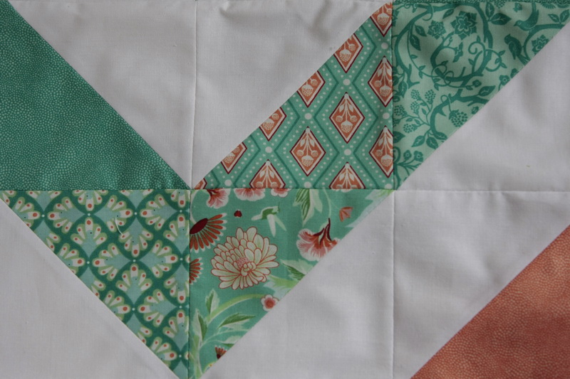 Birds and berries zig zag quilt