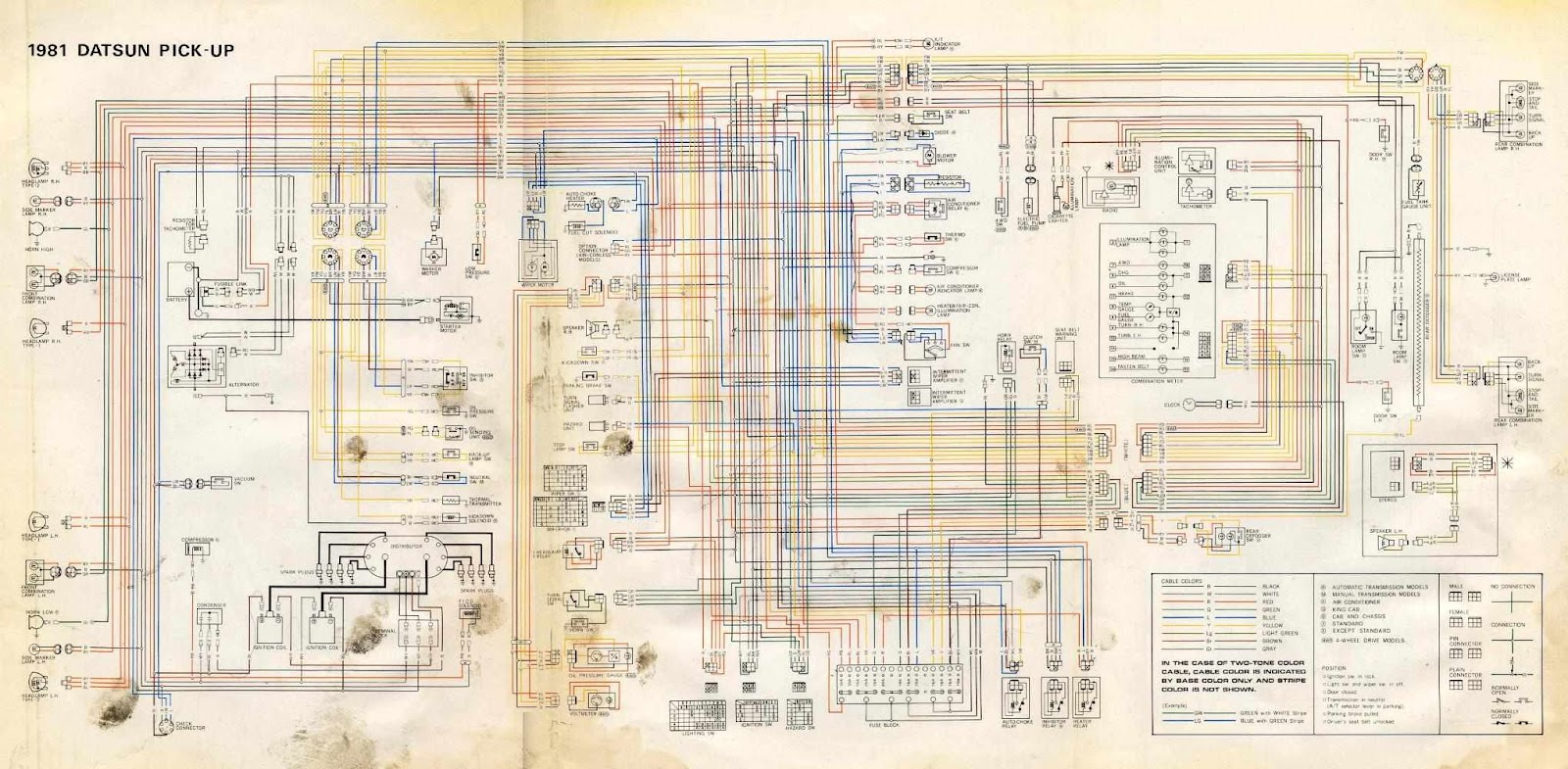 280z Wiring Diagram Color Harness Library