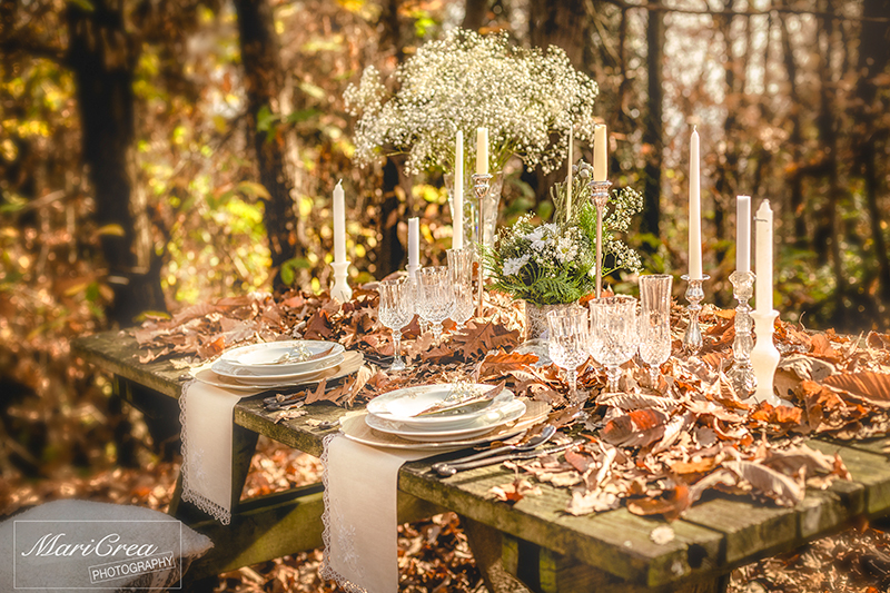 November woodland wedding