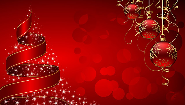 Christmas Backgrounds balls greetings