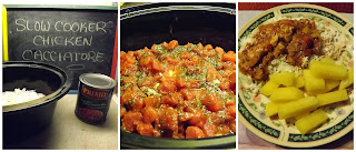 Crock Pot Chicken Cacciatore  from Just North of Wiarton & South of the Checkerboard