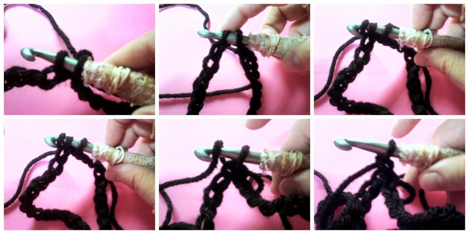 Insert your hook through the first chain and join together the 2 ends with a slip stitch.  ROW 1: ch 1; sc 1 in backloop of every chain; when you're halfway you notice you start to crochet at the other side, in the remaing loop of the starting chain