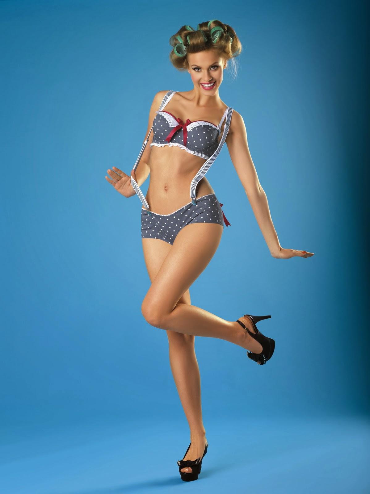 Girl in lingerie pin up