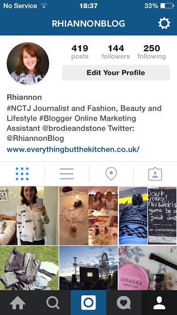 RhiannonBlog Instagram