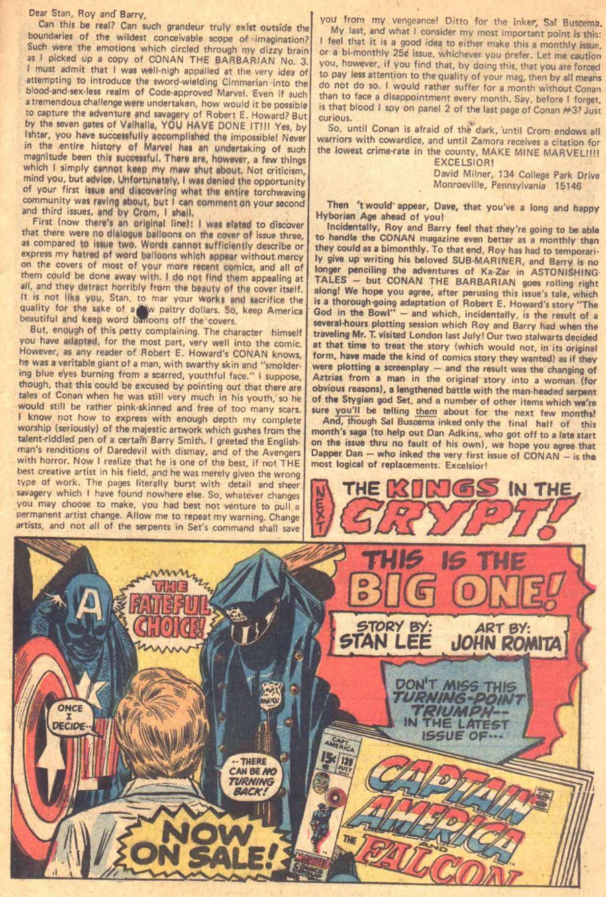 Conan the Barbarian (1970) Issue #7 #19 - English 23