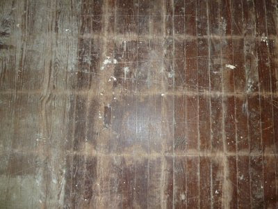 5 acres & a dream: old kitchen floor: problems & preps
