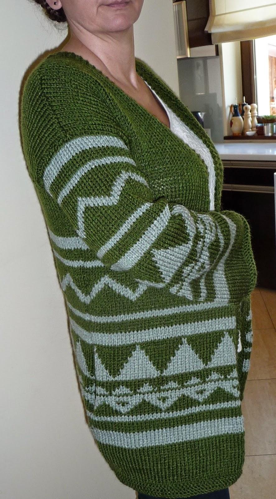 sweter wzory indiańskie