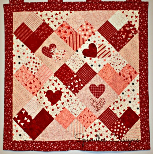 Spindles Designs by Mary & Mags: Show and Tell Saturday {Valentine s Day Quilt}