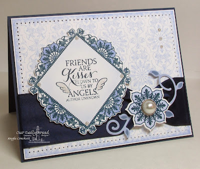 ODBD Ornate Background, Ornate Borders and Flowers, ODBD Custom Ornate Borders and Flower Die Set, ODBD Custom Fancy Foliage Die Set, Sentiments Collection, Card Designer Angie Crockett