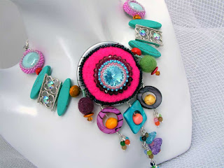 Mix Media Colour Fantasy I Necklace
