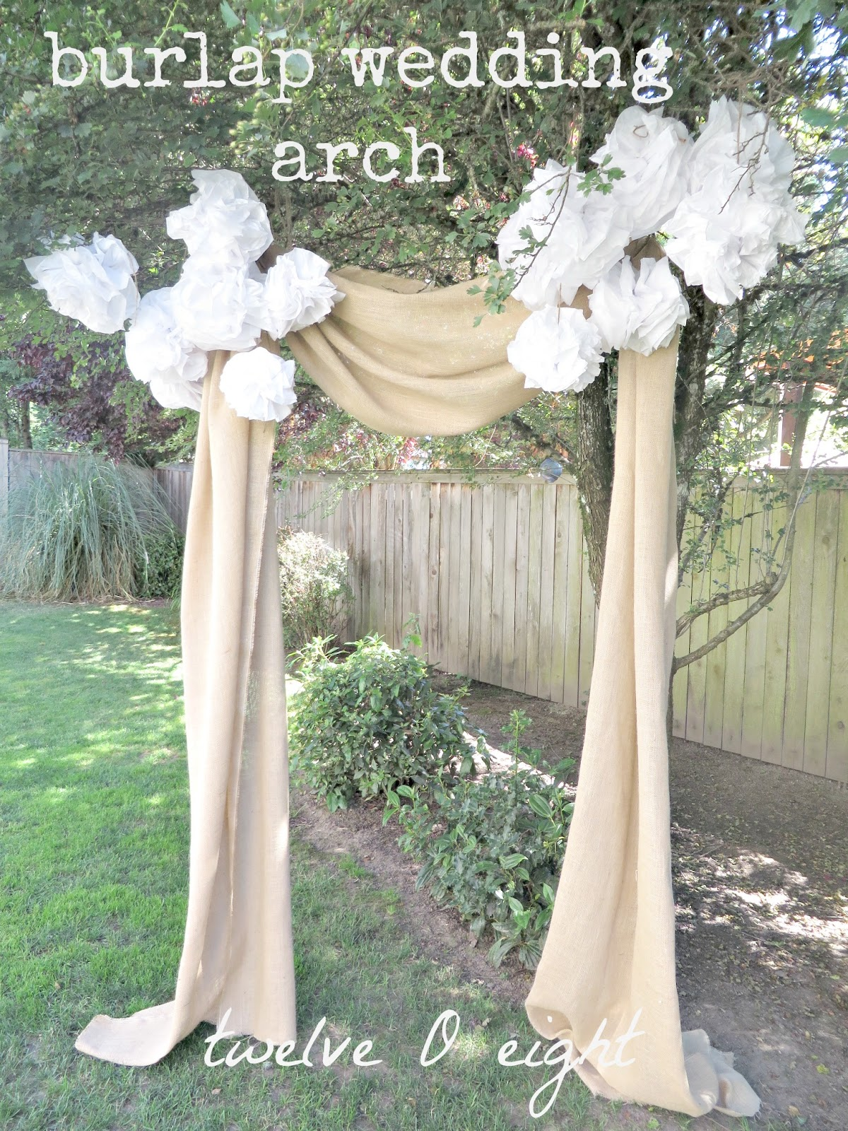 Backyard Wedding Decorations Diy : The weather was beautiful, not a cloud in the sky