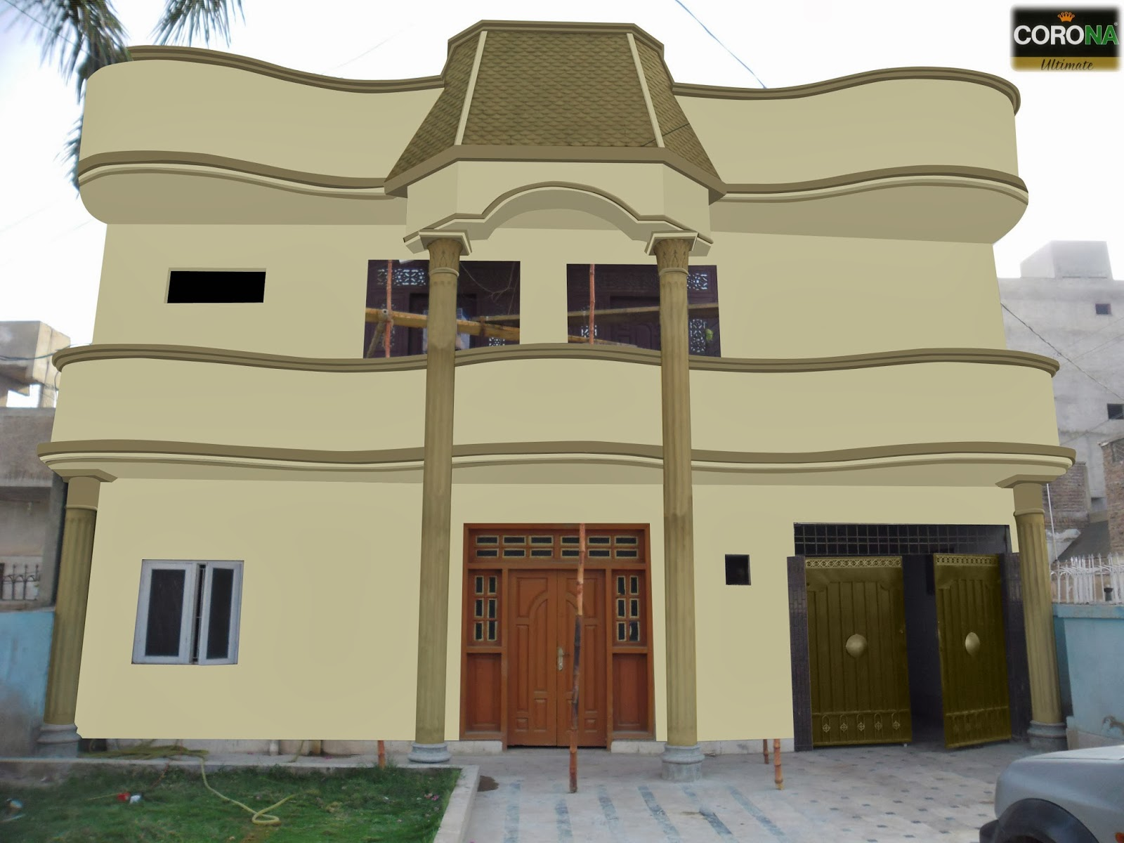 Front Elevation Colour Combination : Paints of ideas corona weather barrier colour on