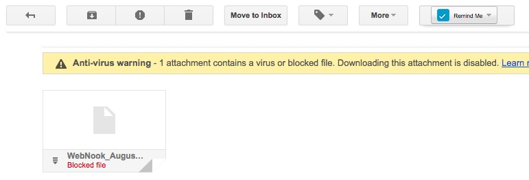 how to get rid of email virus gmail