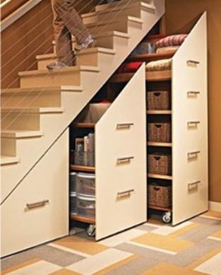Barquitec almacenaje bajo la escalera for Muebles bajo escalera ikea