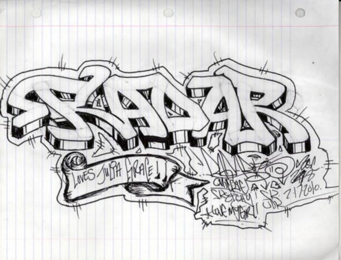 Graffiti Letters Radar  Example Sketches