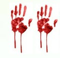 2 Bloody Handprints