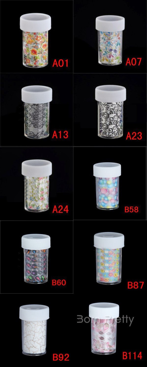 http://www.bornprettystore.com/charming-starry-nail-roll-foils-leopard-lacy-arabesque-leaf-glitter-transfer-stickers-paper-p-14391.html