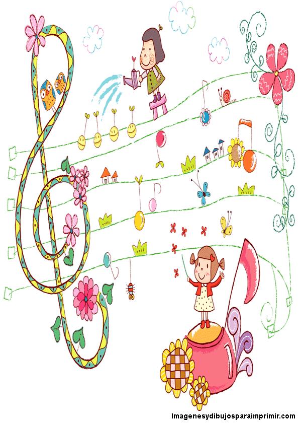 dibujo de musica infantil imagenes y dibujos para imprimir