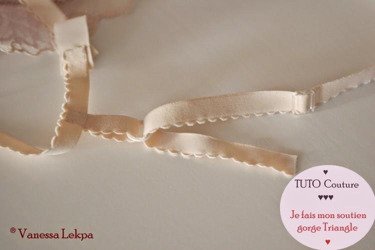 DIY tuto faire des bretelles de soutien gorge avec un élastique spécial lingerie et sous vêtements et anneaux et curseur de corseterie . Vanessa Lekpa