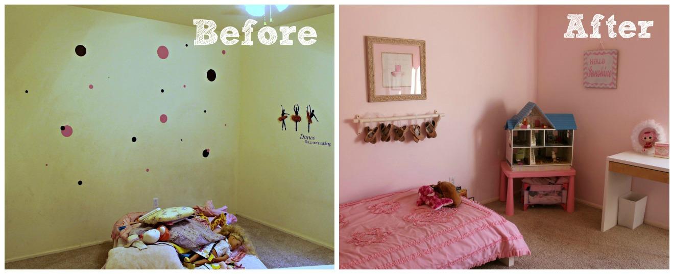 Ballet barre in bedroom