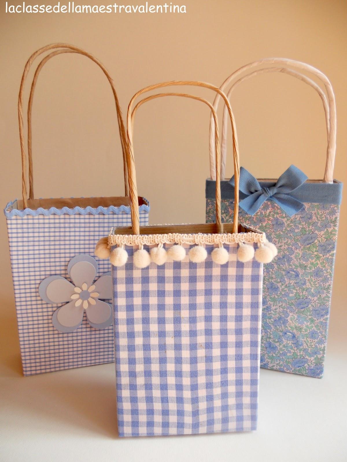 La classe della maestra valentina borsette scatolette for La maestra valentina
