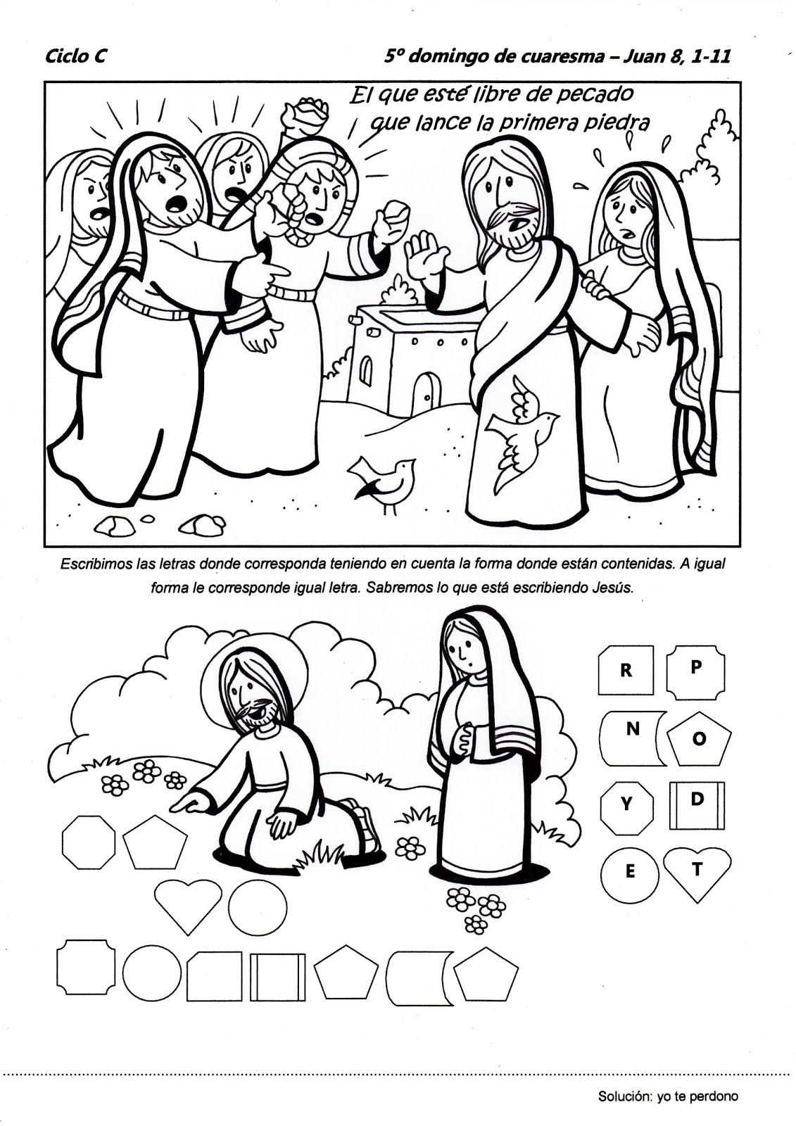 Camino hacia la Pascua: Recursos Catequesis Quinto Domingo de Cuaresma:
