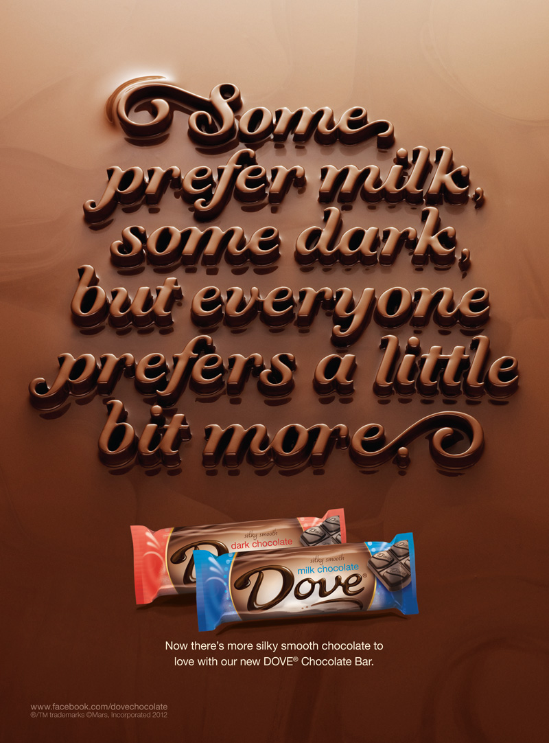 Dove Chocolate Bar Commercial