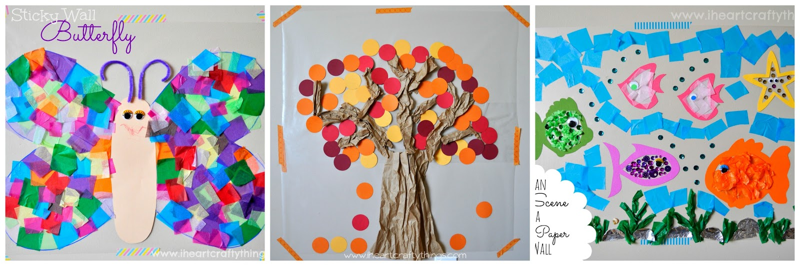 You might also enjoy our sticky wall butterfly contact paper fall tree or sticky wall ocean art