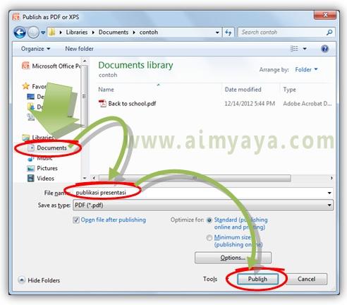 Gambar:  Cara menyimpan file presentasi (ppt/pptx) menjadi pdf