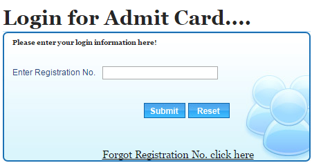 Login for Admit Card
