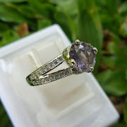 Cincin Batu Permata Purple Sapphire Ceylon - SP598