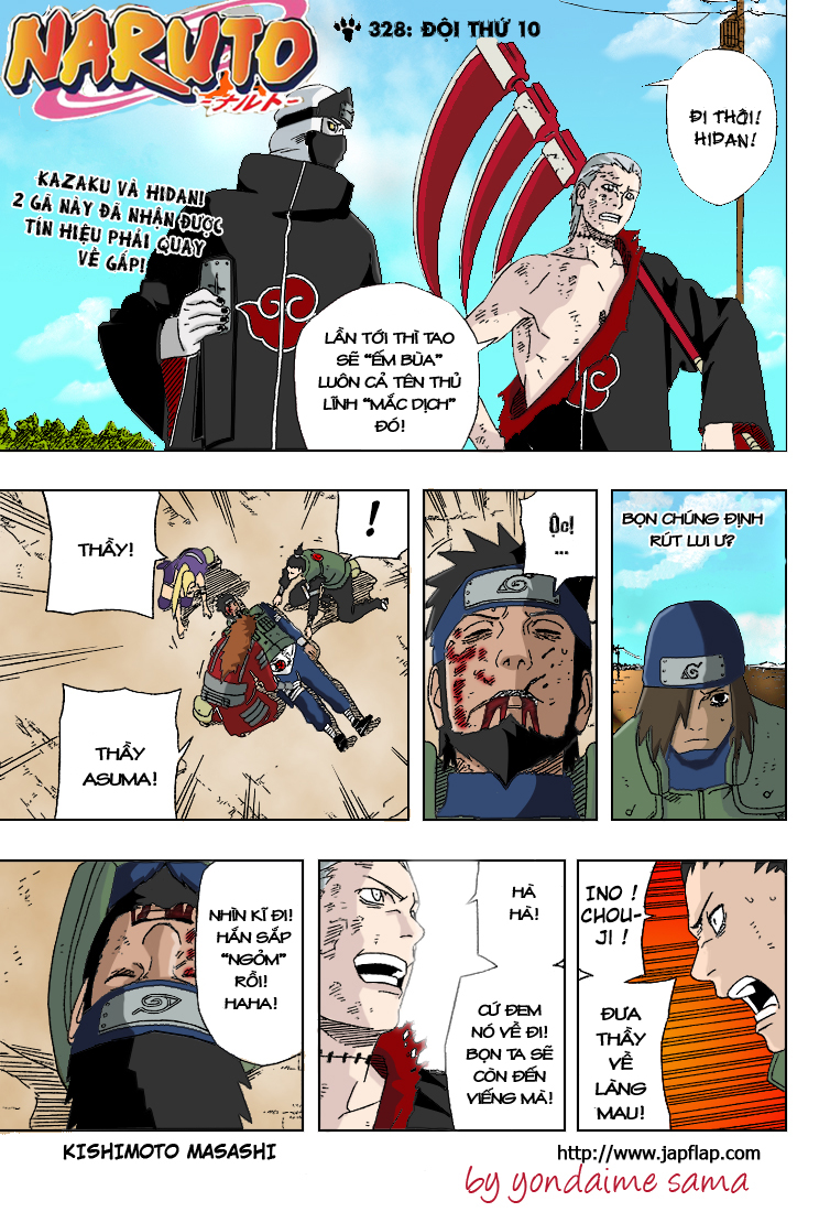 Naruto chap 328.Color Trang 1 - Mangak.info