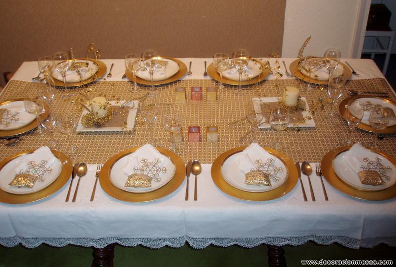 La tricotosa mesas de navidad for Mesas para navidad