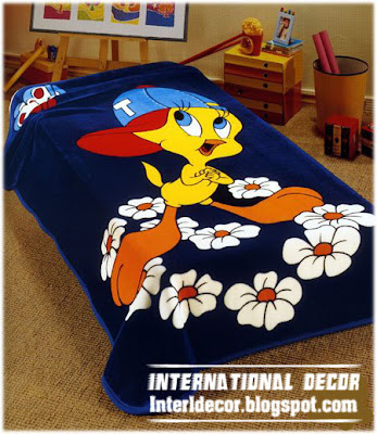 tweety bedspreads and blankets model for kids beds Tweety, looney tunes Bedspreads, blankets for kids room