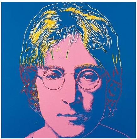 Impresión tela cuadro acústico John-lennon-andy-warhol